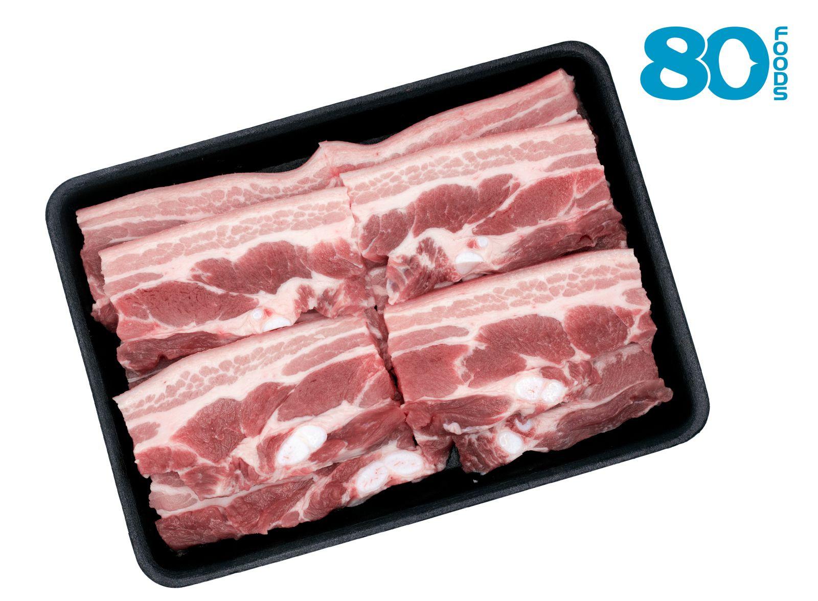 Thịt ba chỉ heo không da (350gram)