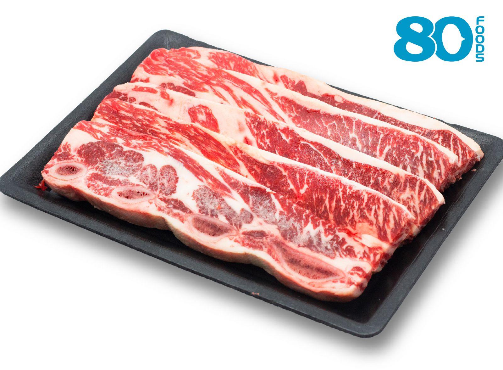 Sườn có xương bò Mỹ cắt nướng (500gram)