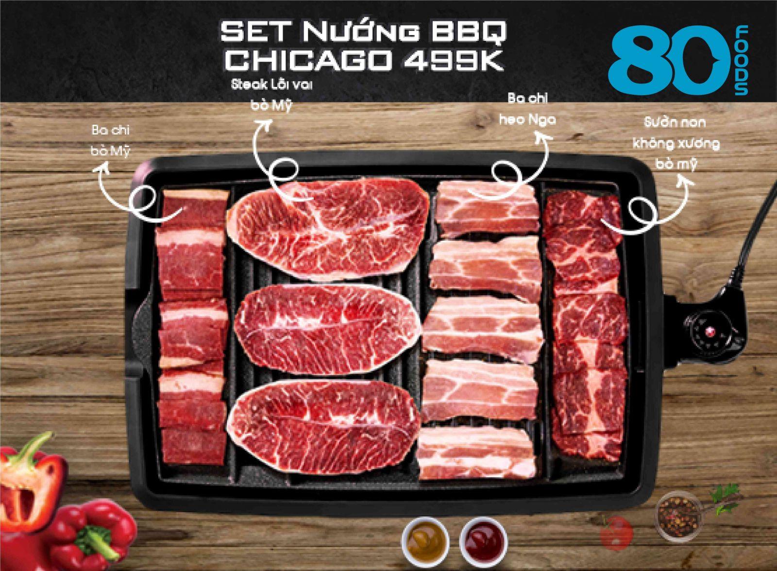 SET NƯỚNG BBQ CHICAGO (1,1KG)